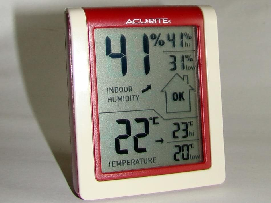 Hygrometer for basement smell